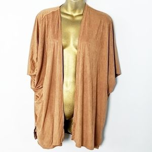 Forever 21 suede brown cape cardigan small